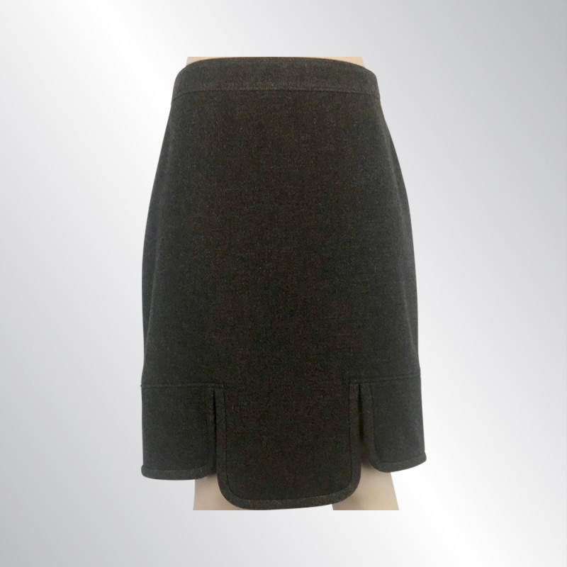 NWT GIVENCHY BROWN WOOL PENCIL SKIRT WITH FRONT VENT, SIZE FR40/USA6 $1400