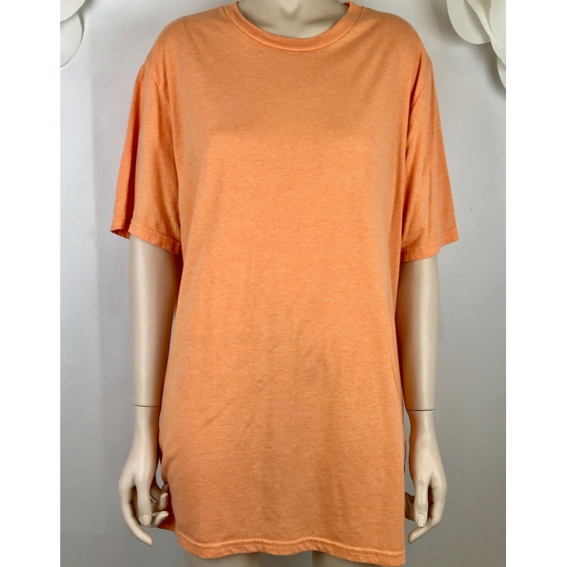 MOSSIMO SUPPLY CO ORANGE TEE T SHIRT TOP,  SHORT SLEEVE CLASSIC SIZE XL