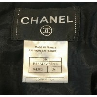 CHANEL BLACK CASHMERE, SILK & COTTON DRESS NUDE MESH, SILK LINING, SZ 36/6 $3155